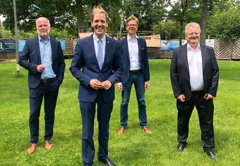 vlnr. Markus Klaus, Dr.Christian Schulze Pellengahr, Dr. Christian Vogdt, Günter Mondwurf